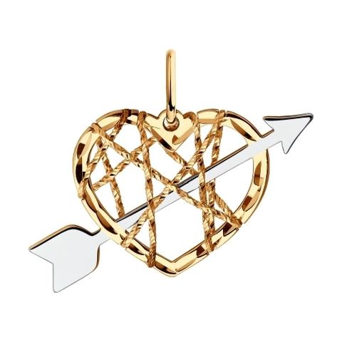035932 - Подвеска из золота с алмазной гранью