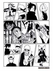 Набор стикеров Naruto Manga