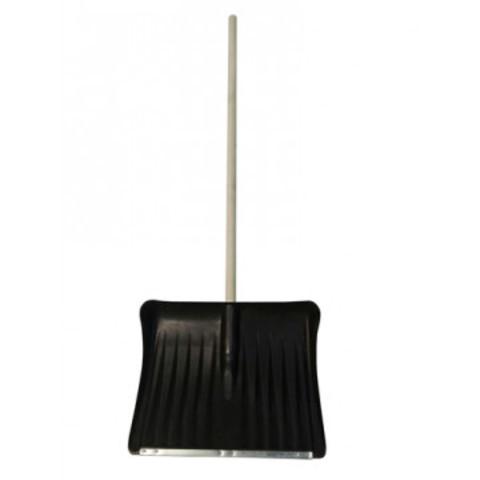 Лопата для уборки снега ковш пластиковый (49.5x39 см) с черенком