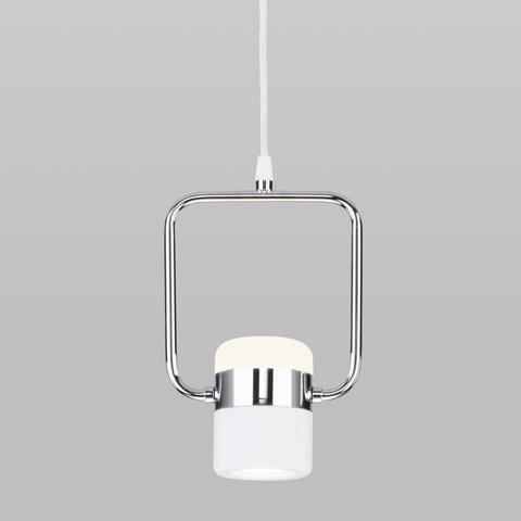 Подвесной светодиодный светильник 50165/1 LED хром/белый