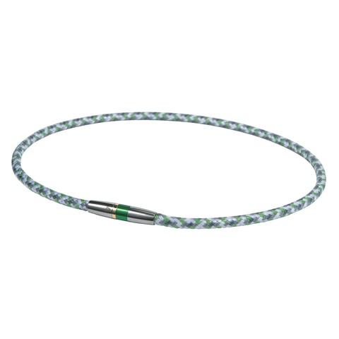 Ожерелье PHITEN RAKUWA NECKLACE X50 HIGH-END III (бело-серо-зелёное)