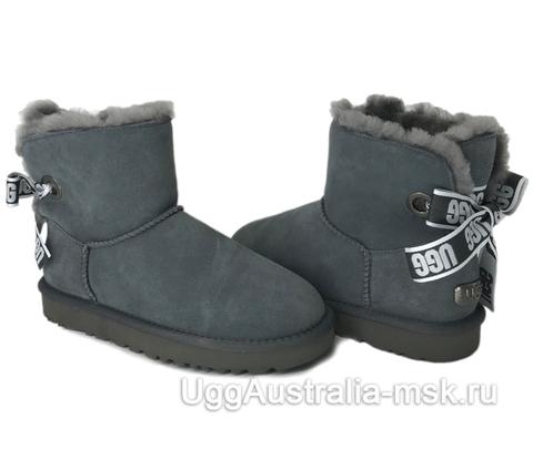 UGG Bailey Bow Mini Customizable Grey