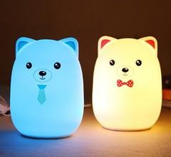 силиконовый детский светильник мишка led-lamp фото