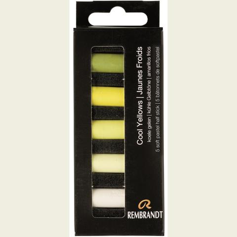 Набор сухой пастели Rembrandt 5цв холодный желтый картон.упак