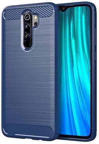 Чехол Xiaomi Redmi Note 8 Pro цвет Blue (синий), серия Carbon, Caseport