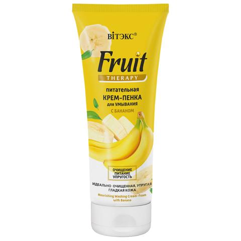 Витэкс Fruit Therapy Питательная крем-пенка для умывания с бананом 200мл