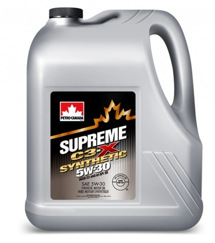SUPREME C3-X SYNTHETIC 5W-30 Petro-Canada моторное масло для двигателей 4 литра