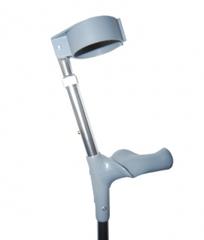 Костыли с опорой под локоть c двойной регулировкой, с анатомической ручкой