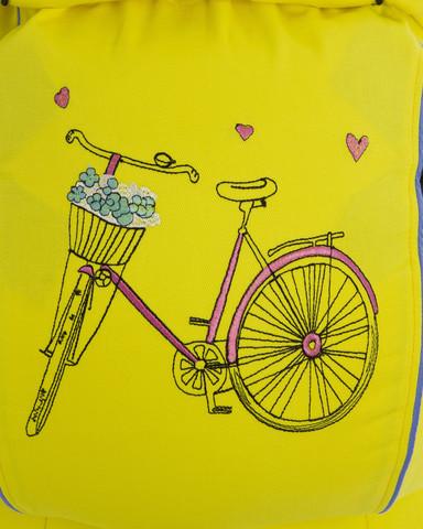 Эрго-рюкзак ТеддиСлинг Велосипед желтый без кармана