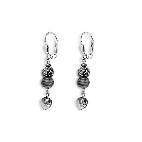 Серьги Coeur de Lion 4895/20-1314 цвет серый, серебряный