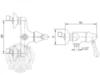 Смеситель для душа  Migliore Maya ML.MAY-8938 схема