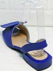 Модные босоножки женские на квадратном каблуке Amy Michelle 2634 Ultra Blue.