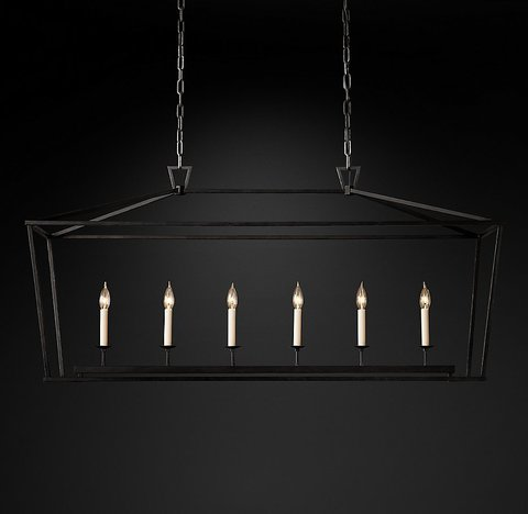 Подвесной светильник копия 19th C. English Openwork Linear Pendant by Restoration Hardware