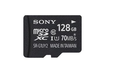 Карта памяти Sony Micro sd 128 Gb 70Mb/s  sr-g1uya