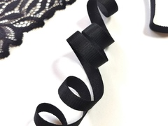 Бретелечная резинка, 10 мм, черная, (Арт: BR640/10-170), м
