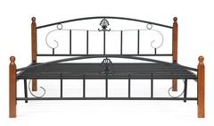 Кровать Румба (200x160) Черный/Красный дуб