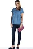 Блузка для беременных 08502 синий