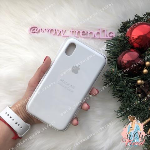 Чехол iPhone XR Silicone Case /white/ белый 1:1