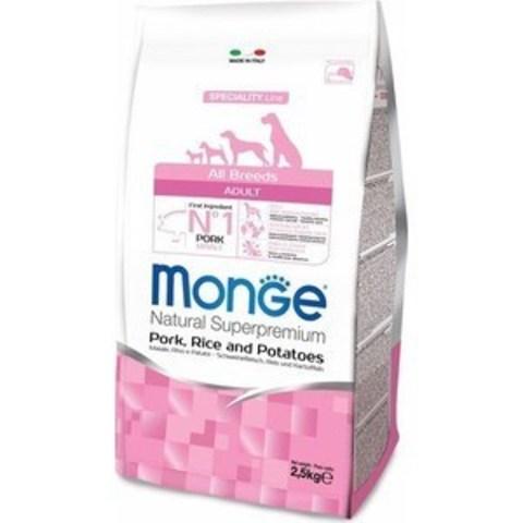 Monge Dog Speciality корм для собак всех пород (свинина с рисом и картофелем) 2,5кг