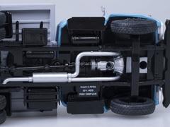 ZIL-MMZ-4502 tipper early grille metal body blue-gray Start Scale Models (SSM) 1:43