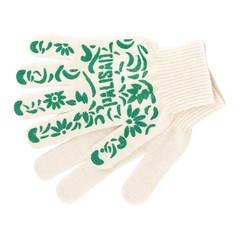Перчатки садовые х/б, ПВХ покрытие,