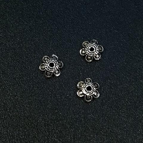 Шапочка Лидия 5 мм серебро 925 1 шт