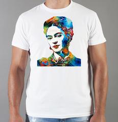 Футболка с принтом Фрида Кало (Frida Kahlo) белая 006