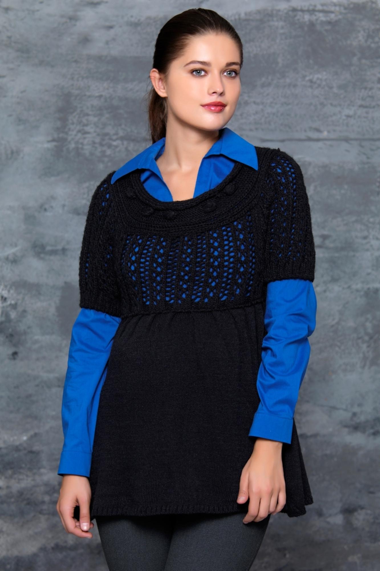 Джемпер для беременных 00031 черный