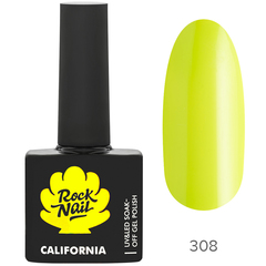 Гель-лак RockNail California 308 Lime Peel, 10мл.