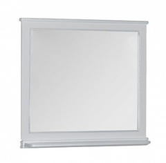 Зеркало Aquanet Валенса 110 белый краколет серебро