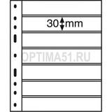 Лист для банкнот OPTIMA, 7 ячеек, двусторонний, с черной основой