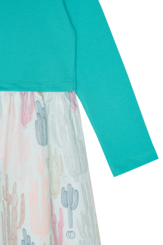 Платье зеленое с