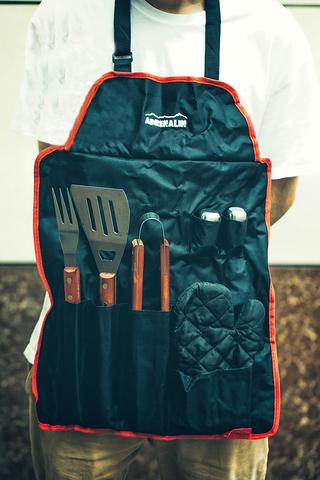 Фартук Шашлычника и набор инструментов для гриля