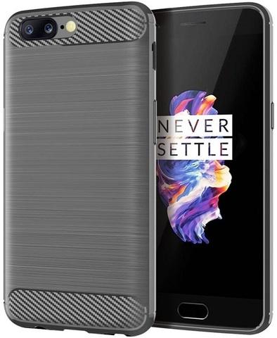 Чехол OnePlus 5 цвет Gray (серый), серия Carbon, Caseport