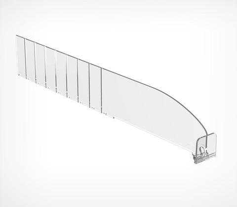 Пластиковый разделитель c передним ограничителем 30 мм, L=185-385 мм, обламывающийся DIV60-ВT30