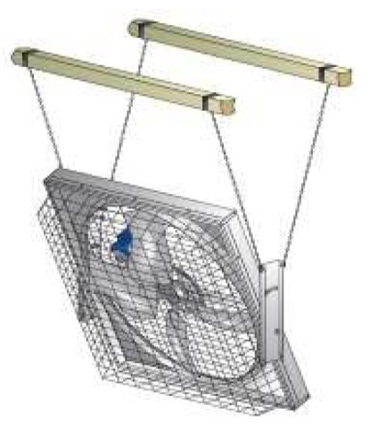 MFS52   Набор для подвеса вентилятора для коровников и ферм
