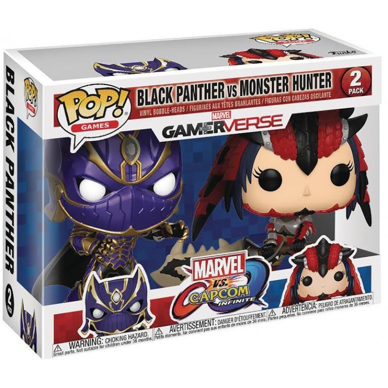 Фигурка Funko POP! Vinyl 2-Pack: Capcom vs. Marvel: Black Panther vs Monster Hunter 22780