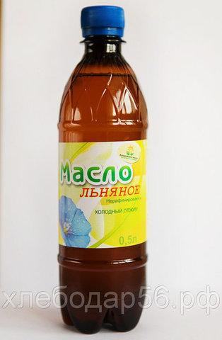Асекеевское масло льняное 0,5л