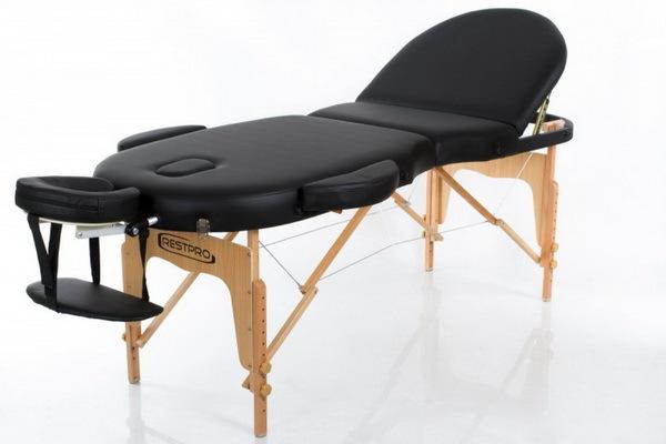 Массажный стол RESTPRO VIP OVAL 3 Black (EU) фото