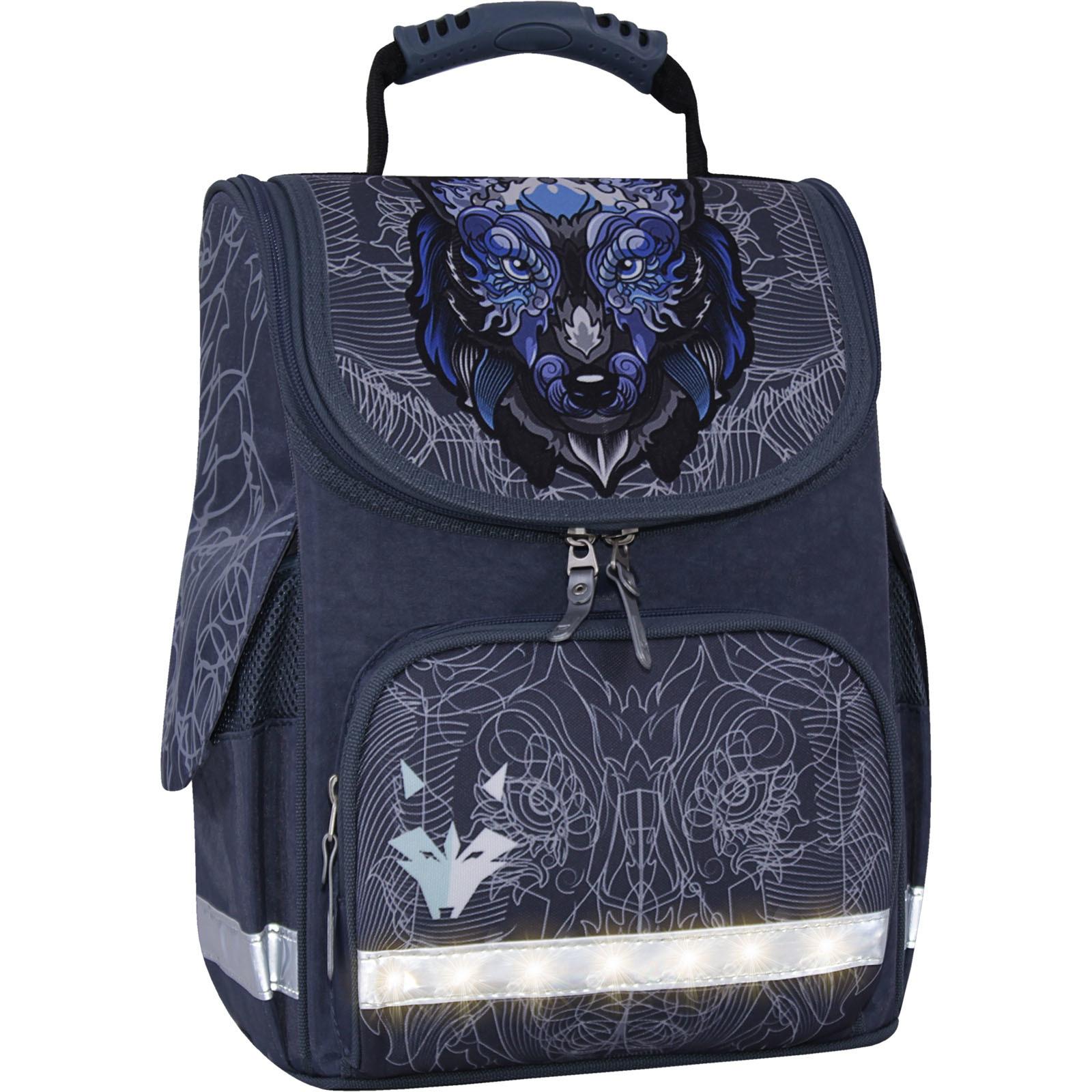 Школьные рюкзаки Рюкзак школьный каркасный с фонариками Bagland Успех 12 л. серый 506 (00551703) IMG_3847свет.суб506-1600.jpg