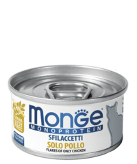 Monge Monoprotein for cat flakes влажный корм для кошек хлопья с курицей 80гр