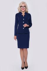 <p>Шикарный костюм из плательной ткани. Приталенный жакет на пуговицах. Рукав длинный, юбка прямая, классическая, на замке. (Длина юбки: 46=54см; 48=55см; 50=56см; 52=57см;)</p>