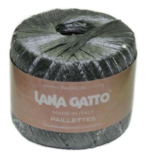 Пряжа Lana Gatto Paillettes 8603 серебро