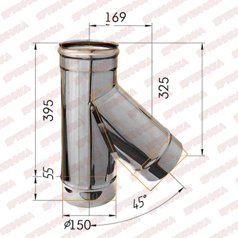 Тройник-К 135° d150мм (439/0,8мм) Ferrum