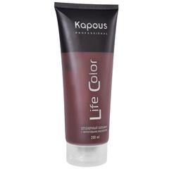 KAPOUS бальзам оттеночный для волос life color коричневый 200мл.