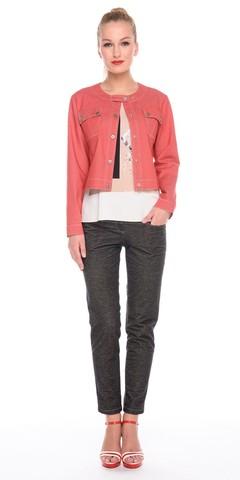 Фото брюки зауженные цвета серый меланж, - Брюки А454-350 (1)