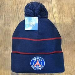 Вязаная шапка с помпоном с логотипом ФК Париж (Paris Saint-Germain)