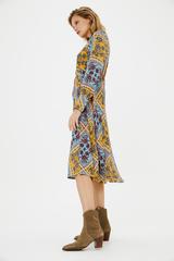 Платье с платочным паттерном