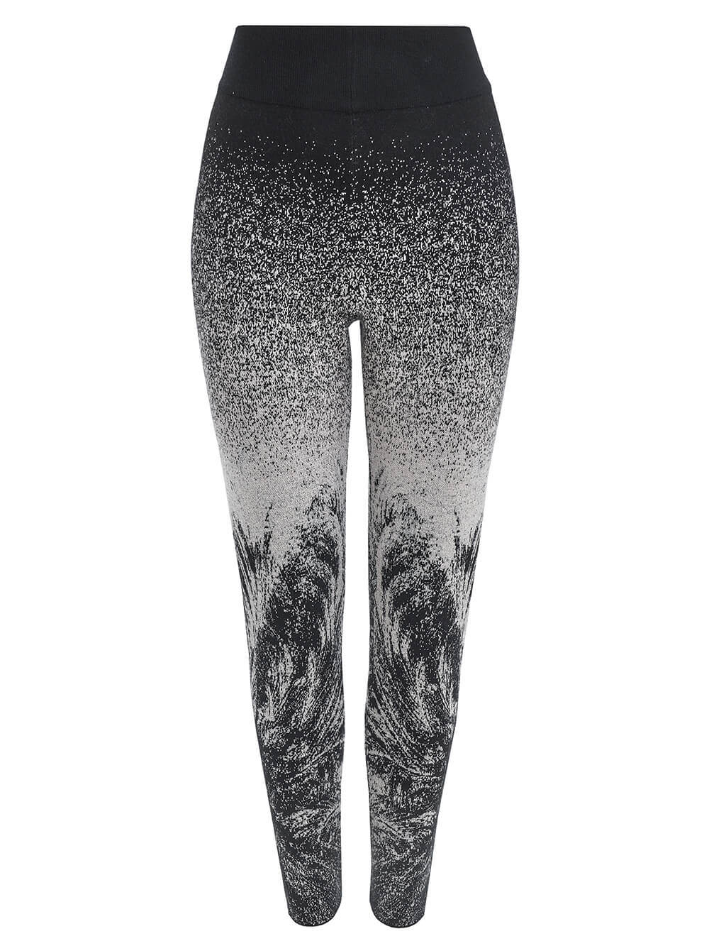Женские брюки черного цвета из кашемира и вискозы - фото 1