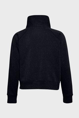 Женский черный свитшот Rival Fleece Wrap Neck PO Under Armour